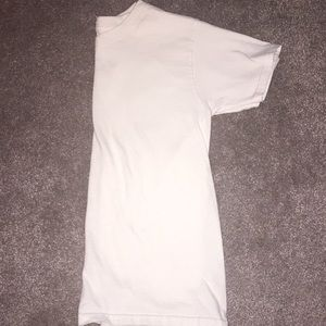 Plain white t shirt v neck